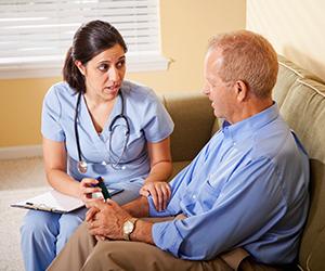 Patient asking questions