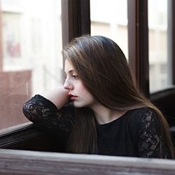 Woman with depression