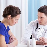 Woman seeking treatment