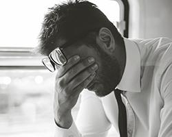 Man depressed