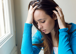 young woman depressed